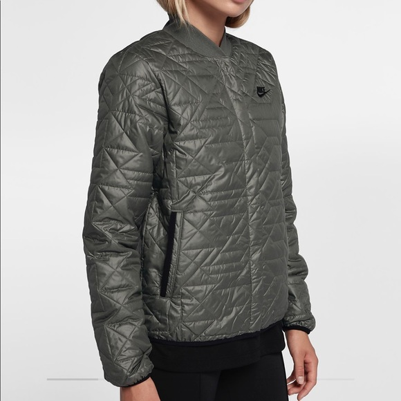 Nike Jackets Coats Womens Quilted Classic Bomber Jacket Nwt